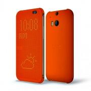 HTC Case Dot Flip HC M100 for HTC One M8 Orange