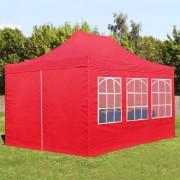 tendapro.it Gazebo Pieghevole 3x4,5m rosso Padiglione Richiudibile Automatico