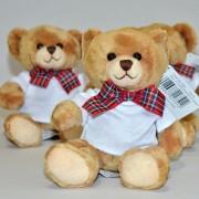Ursulet de plus, cu tricou personalizat si funda papion