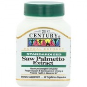 21st Century Saw Palmetto Extract Veg Capsules 60 Count