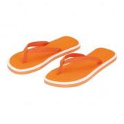 Merkloos Oranje dames teenslippers