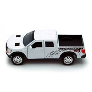 White Jada Just Trucks 5-inch 2011 Ford F-150 SVT Raptor Pickup 1/32 Scale Truck with Pullback Actio