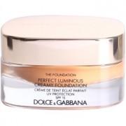 Dolce & Gabbana The Foundation Perfect Luminous Creamy Foundation кадифен фон дьо тен за озаряване на лицето цвят No. 160 Soft Tan SPF 15 30 мл.