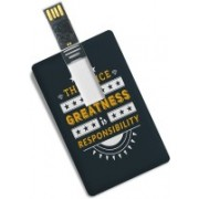 100yellow 16GB Credit Card Shape Inspirational Quote Printed Fancy Pen Drive/Data Storage 16 GB Pen Drive(Multicolor)