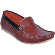 Shoebookb Mens Brown Loafers