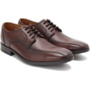 Clarks Kalden Vibe Brown Leather lace up For Men(Brown)