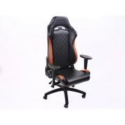FK-Automotive FK chaise de bureau chaise de jeu Liverpool noir/marron chaise pivotante