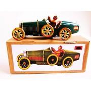 BUGATTI PAYA repro vtg WIND-UP Grand Prix Racer Race Car retro Tin New in Box For Ages 14+