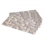 Cosy & Trendy 6x Placemat grijs steen print 45 cm