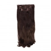 Rapunzel® Synthetische extensions Clip-on Set Synthetic 5 pieces Beach Wave 2.3 Chocolate Brown 50 cm