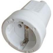Földelt csatlakozó dugalj Műanyag Fehér 31-204 - Adeleq