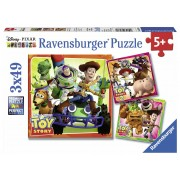 Ravensburger Toy Story History Puzzle 3x49 pezzi (08038)