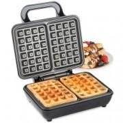 Aparat waffle VonShef Dual Belgian Waffle Maker 2013309, 2 Felii Mari, 1000 W, Control Temperatura Automat