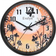 Evelyn Round Design Wall Clock for Office Bed Room Lobby Kitchen Stylish Wall Clocks Durable Wall Clock-Evc-021