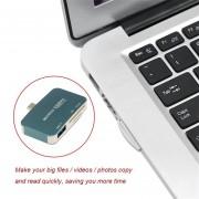 EY Tipo-C Interface USB3.1 HUB Seguridad Tarjeta De Memoria Digital TF Card Reader-Genérico