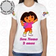 Camiseta Dora a Aventureira Mochila