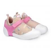 Pantofi Fetite BIBI 2way Roz Cu Imprimeu