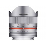 Canon Objetivo SAMYANG 8mm F2.8 Ii ojo de pez M (Plata - Encaje: Canon EF-M - Apertura: f/2.8 - f/22)