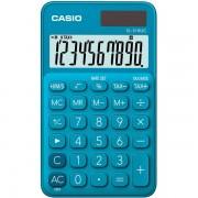 Calcolatrice tascabile Casio SL-310UC - 939155 Calcolatrice a 10 cifre di dimensioni 7 X 0,8 X 11 cm dal peso di 0,05 kg con alimentazione solare/batteria di colore blu in confezione da 1 Pz.