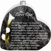Houten Gedenkhart met Asbuisje en gedicht Opa (0.015 liter)