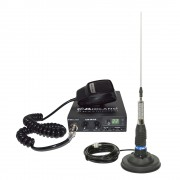 Kit Statie radio auto CB Midland Alan 100 + Antena CB Midland ML145 cu magnet 120/pl