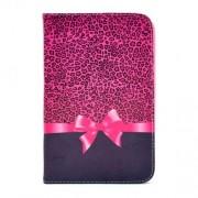 Pink leopárd mintás notesz védőtok Samsung Galaxy Tab 3 7.0 (P3200) táblagéphez