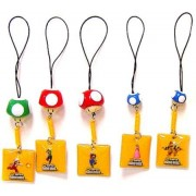 Super Mario Brothers Gashapon Cell Phone Screen Cleaner Strap (Set of 5)