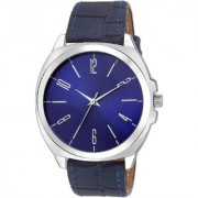 Laurels Round Dial Blue Analog Watch For Men-Lo-Opus-Ii-0303