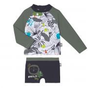 Petit Béguin Maillot de bain garçon ANTI-UV 2 pièces t-shirt & boxer Rafiki - Taille - 9 mois