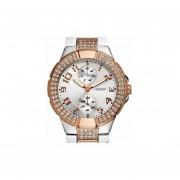 Reloj Guess W15072l1 Swarovski 30m-Plateado Con Rosa