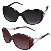 Meia Combo Offer Pack of UV Protected Cateye Stylish Mercury Sunglasses For Men Women Boys Girls