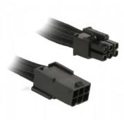 Cablu prelungitor BitFenix Alchemy 6-pini PCIe, 45cm, black/black, BFA-MSC-6PEG45KK-RP