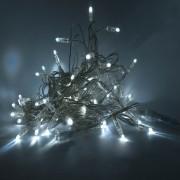 Catena luminosa decoLED - 20 m, 120 diodi LED luce bianca fredda, cavo trasparente, uso interno