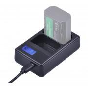 Dual Channel Digital Pantalla LCD Bateria Cargador Con Puerto USB Para Sony Np-fz100 Batería Compatible Con Sony A9 (ilce-9)