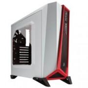 Кутия Corsair Carbide Series SPEC-ALPHA, Mini-ITX/mATX/ATX, 2x USB 3.0, бял/червен, без захранване, по поръчка