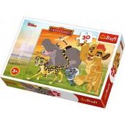 Puzzle clasic copii - Garda felina 30 piese