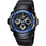 Casio Náramkové hodinky Casio AW-591-2AER, (d x š x v) 52 x 46.4 x 14.9 mm, modrá, černá