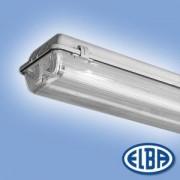 Por és páramentes lámpa FIPAD 05 DANUBIUS 2x14W T5 HF-S elektronikus előtéttel, átlátszó PMMA búra IP65 Elba