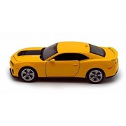 Chevy Camaro Zl1 , Yellow Welly 24042 1/24 Scale Diecast Model Toy Car
