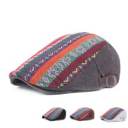 Women Mens Retro Folk-custom Berets Hat Casual Sunshade Couple Hats Forward Caps Adjustable