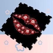 WAWSN Lujo Diamante Labio Bésame Niños Rompecabezas Juego de Ejercicio Alfombrilla de Ejercicio Espuma Entrelazada Alfombrilla Baldosas 8 Piezas 60 X 60 X 1.2 cm Espuma Rompecabezas Azulejos