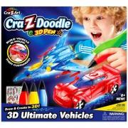Cra-Z-Doodle Határtalan Fantázia sztorim 3D toll - járművek - Cra-Z-Knitz kreatív játékok