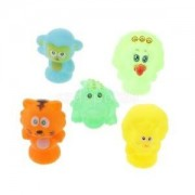 Alcoa Prime Squeaky Floating Bathing Time Bath Toy Baby Lovely Rubber Animals Set of 5