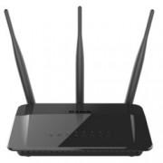 Рутер D-Link DIR-809, 750Mbps, 2.4GHz(300 Mbps)/5GHz(433 Mbps), Wireless AC, 4x LAN 100, 1x WAN 100, 3x външни антени