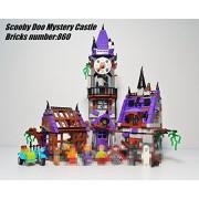 Scooby Doo Mystery Castle Courtyard Mansion model Building blocks bircks