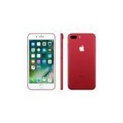 """iPhone 7 Apple Plus Red com 256GB, Tela Retina HD de 5,5"""", iOS 10, Dupla Câmera Traseira, Resistente à Água, Wi-Fi, 4G LTE e NFC – Vermelho"""