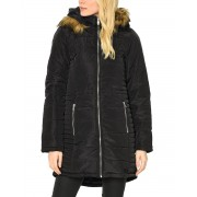 VERO MODA Quilted Long Parka Black