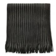 Eșarfă bărbătească în culoarea negru-grafit, cu dungi 9967