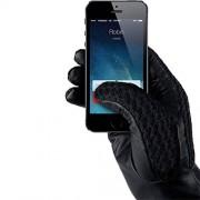 Manusi Touchscreen MUJJO MUJJO-GLLT-020-85 Crosetate Cu Insertii Piele Marimea M