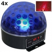 Beamz Magic Jelly Set de 4 Bolas iluminación LED RGB DMX (PL-4x-5917)